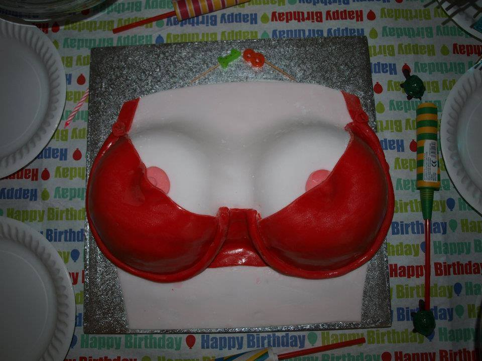 Red Bra cake