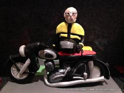 Personalised motorbike cake topper