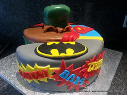 Superhero 6 cake