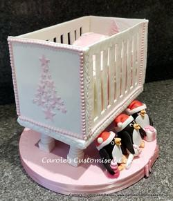 Christmas cot cake