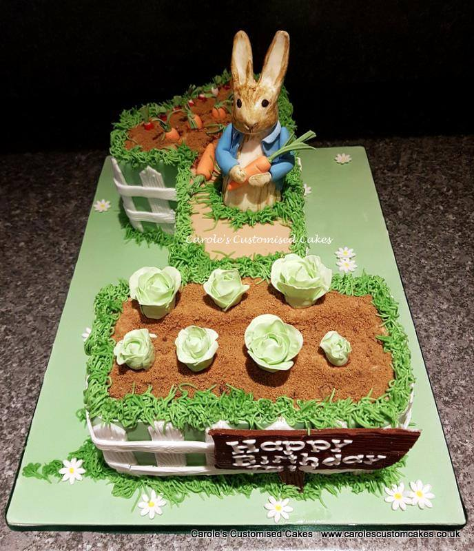 Peter Rabbit number 1 cake