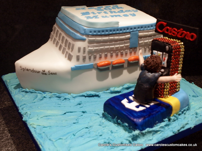 Personalised cruise liner cake