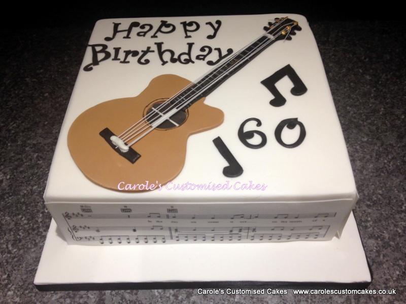 Guitar 60 cake