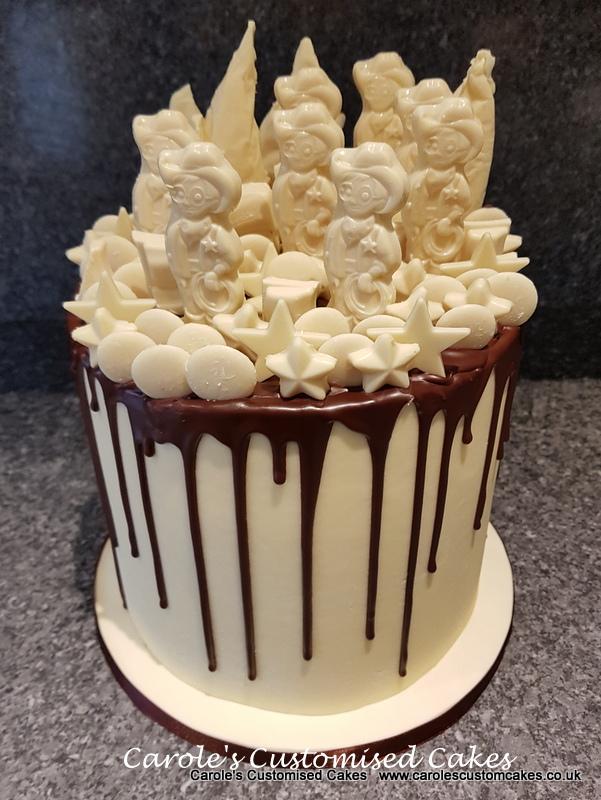 Milky Bar drip cake