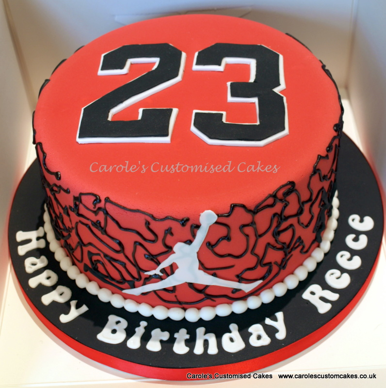 Red and black 23 cake