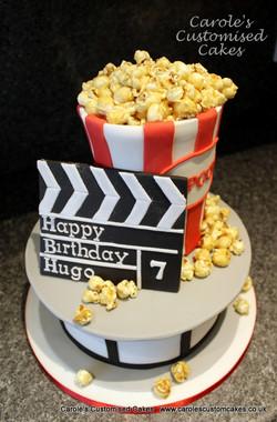 popcorn movie birthday cake