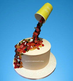 Sweet illusion cake