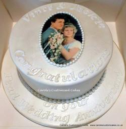 Pearl Anniversary photo cake