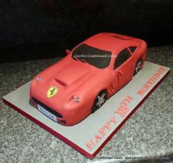 Red Ferrari cake