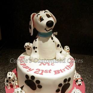dalmation 21st birthday cake.jpg