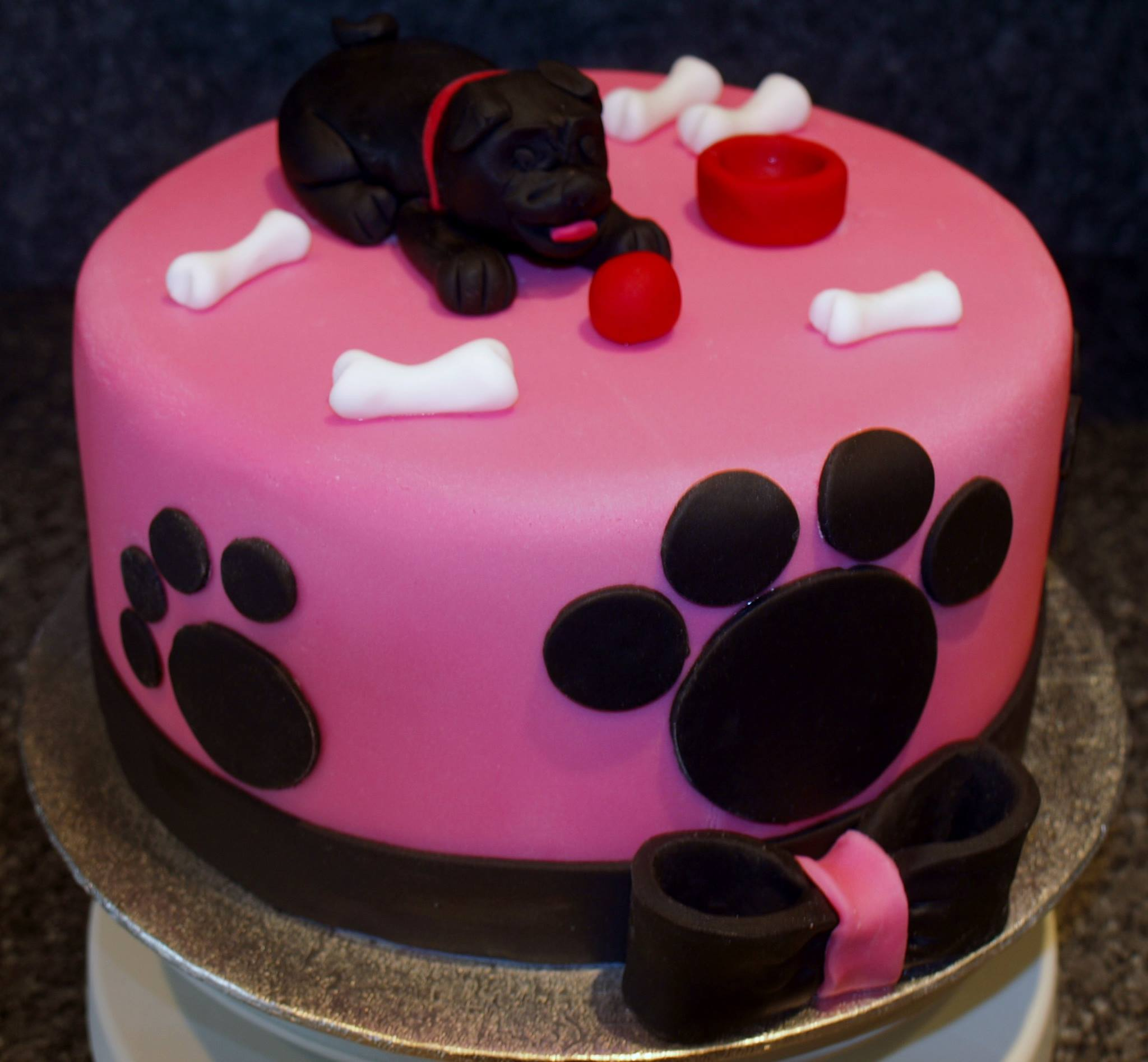 Pug, dog cake