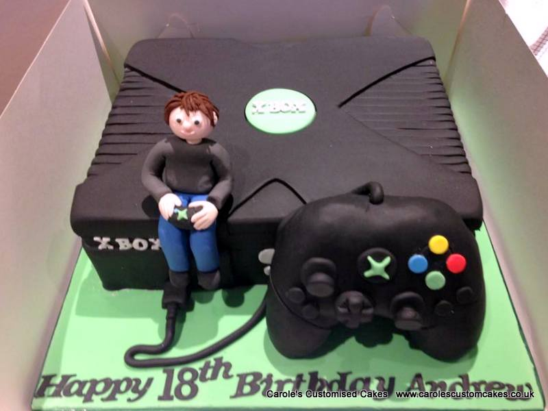 X box and player cake