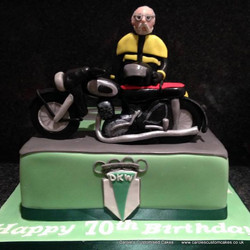 Motorbike DKW personalised cake