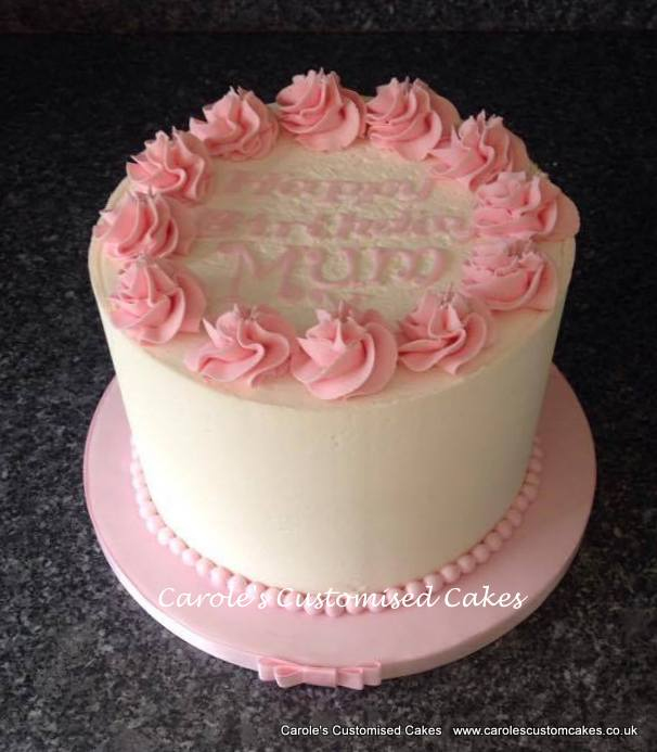 White buttercream cake.