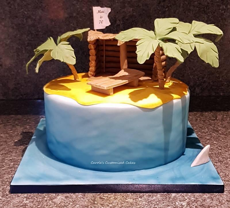 Castaway island cake