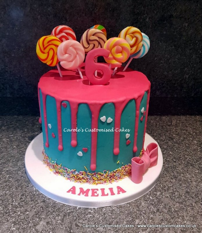 Lollipop drip cake