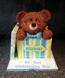 Teddy in box cake