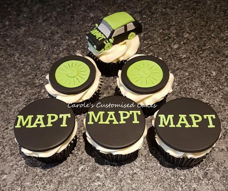 racing team cupcakes