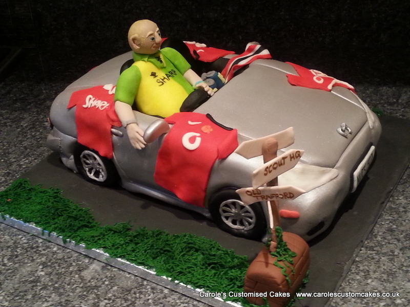Man Utd fan car cake
