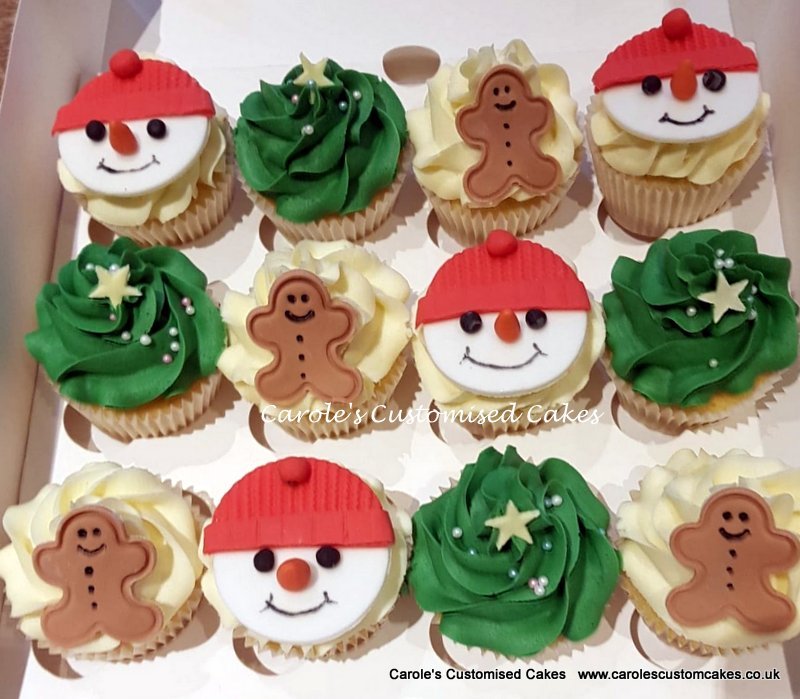 Buttercream Christmas cupcakes