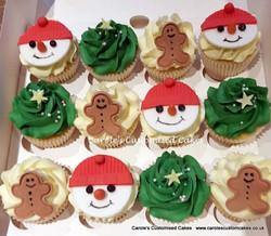 Buttercream Christmas cupcakes
