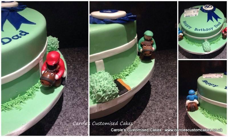 Horse racing cake