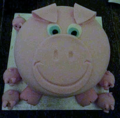 Pig Cake and piglets cake