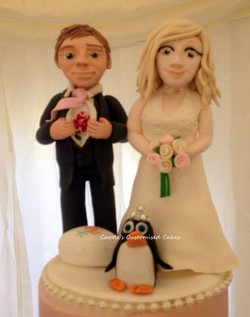 Sophie and Tom wedding cake topper