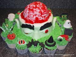 Zombie cake and Halloween cupcakes