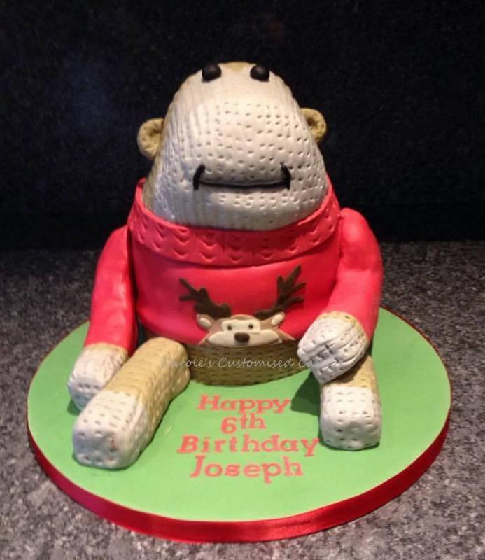 Toy monkey cake