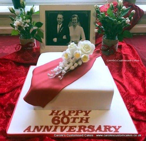 60th wedding anniversary cake