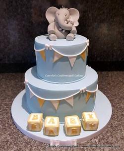 Elephant baby shower cakes