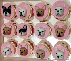 French Bulldog cupcakes