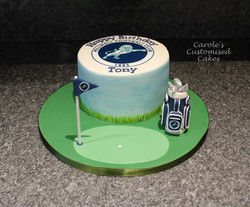 Millwall golf cake
