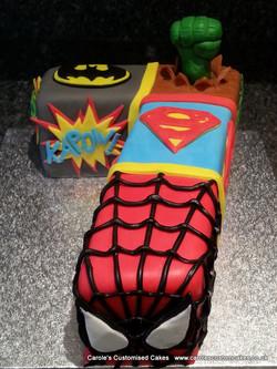 Superhero 7 cake