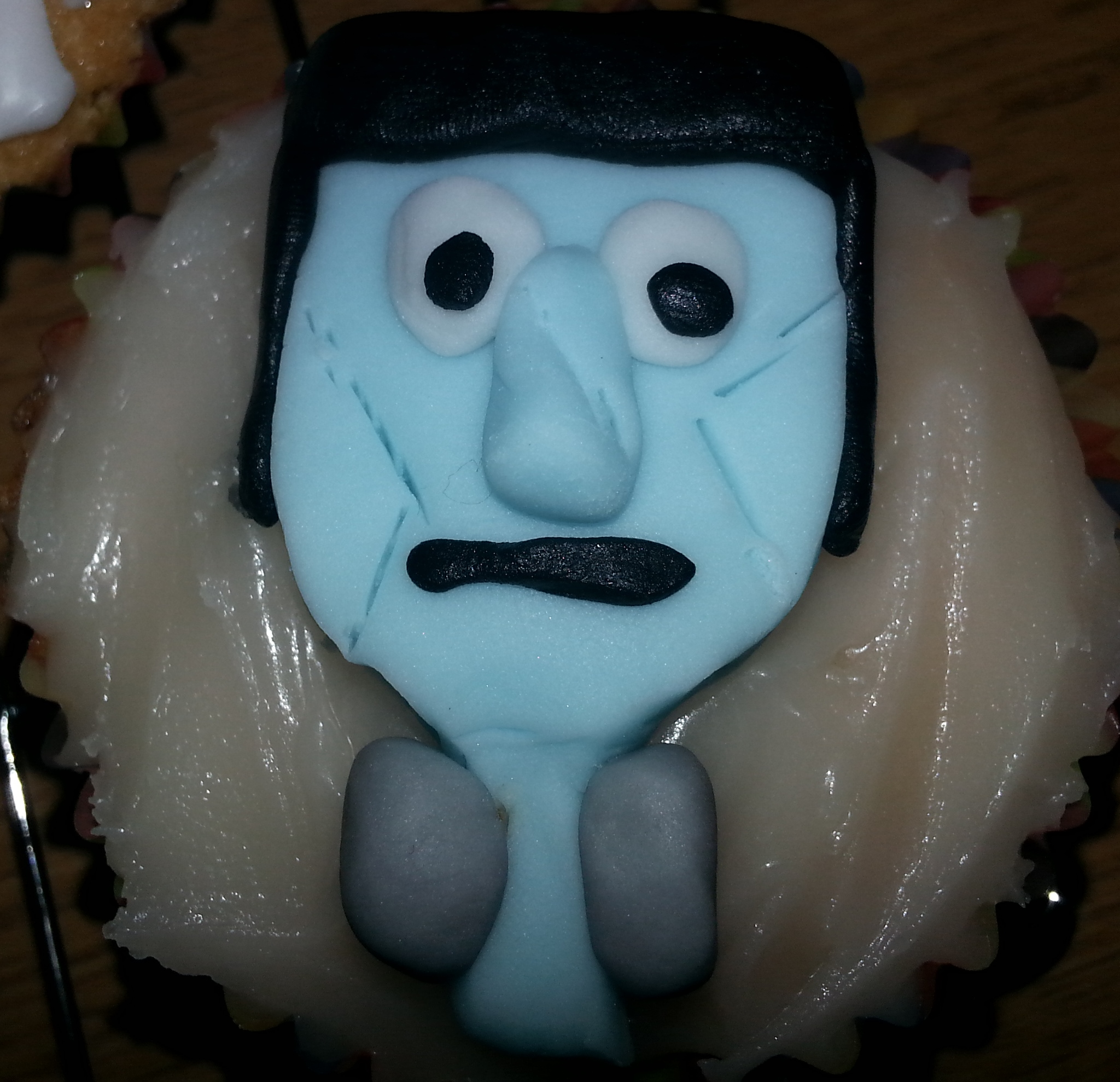 Frankenstein cupcake