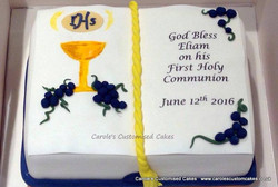Bible First Holy communion Cake