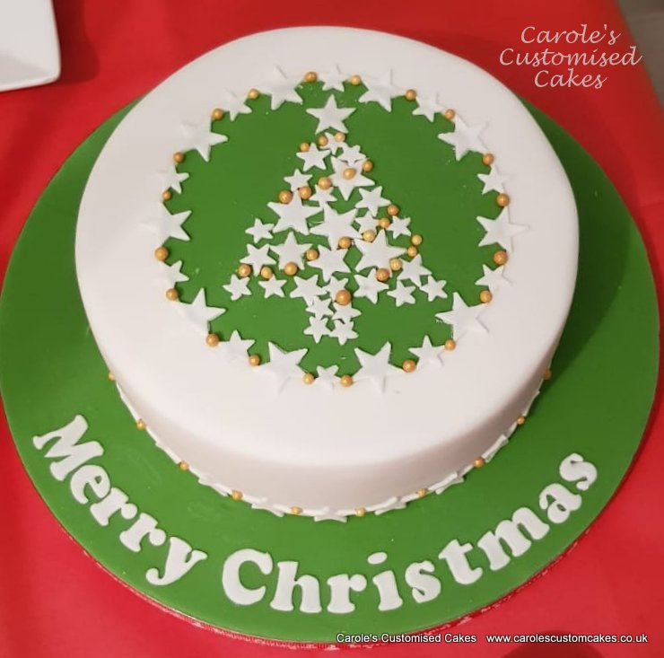 Star Christmas tree cake