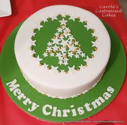 Star Christmas tree cake