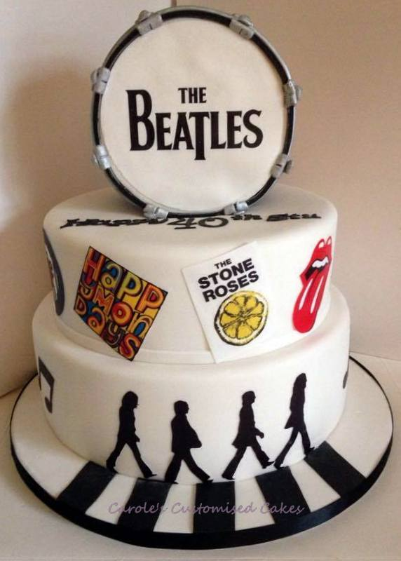 Beatles music cake