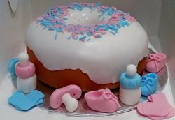 Doughnut baby shower cake