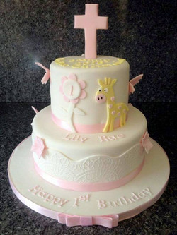 Lily Rae Christening Cake