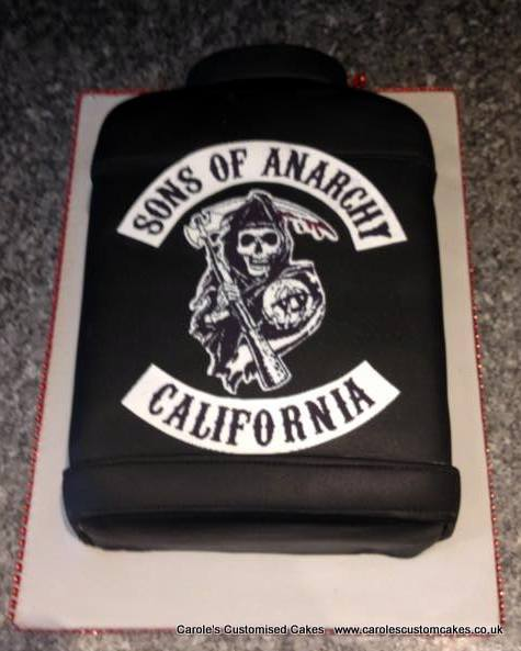 Sons of Anarchy leather jacket cake
