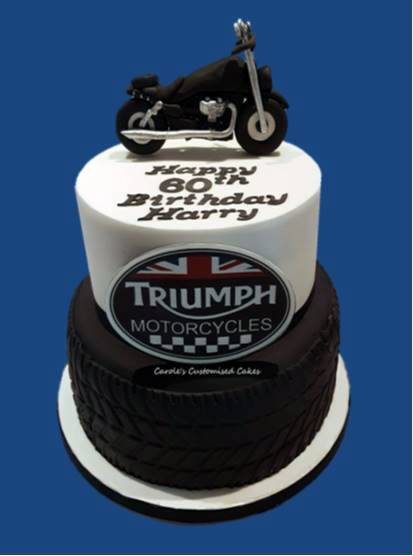 Triumph motorbike cake