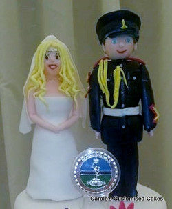 Hollie and Jack's  cake toppers.