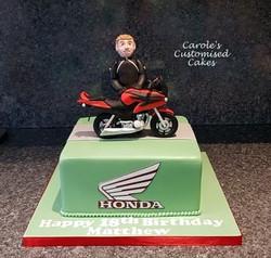 Honda 125 motorbike cake