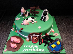 farm 1st birthday cake