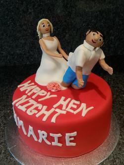 Happy hen night cake