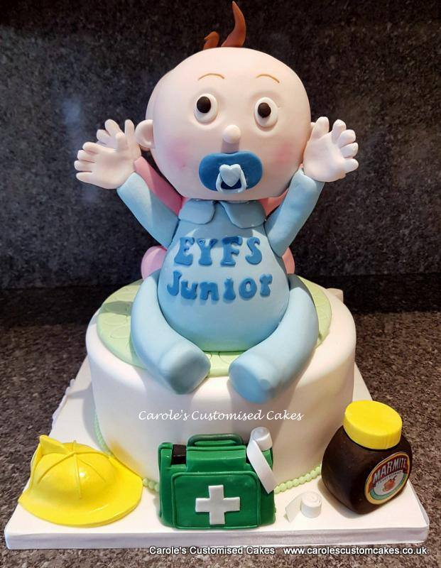 blue baby showercake