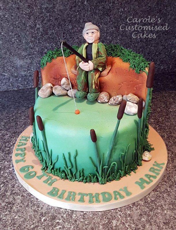 Mark fishing cake